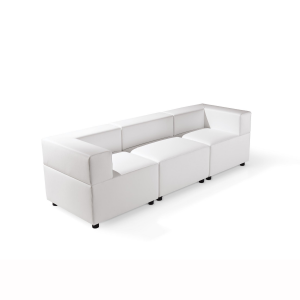 divano in pelle 3 posti bianco