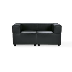 divano in pelle nera